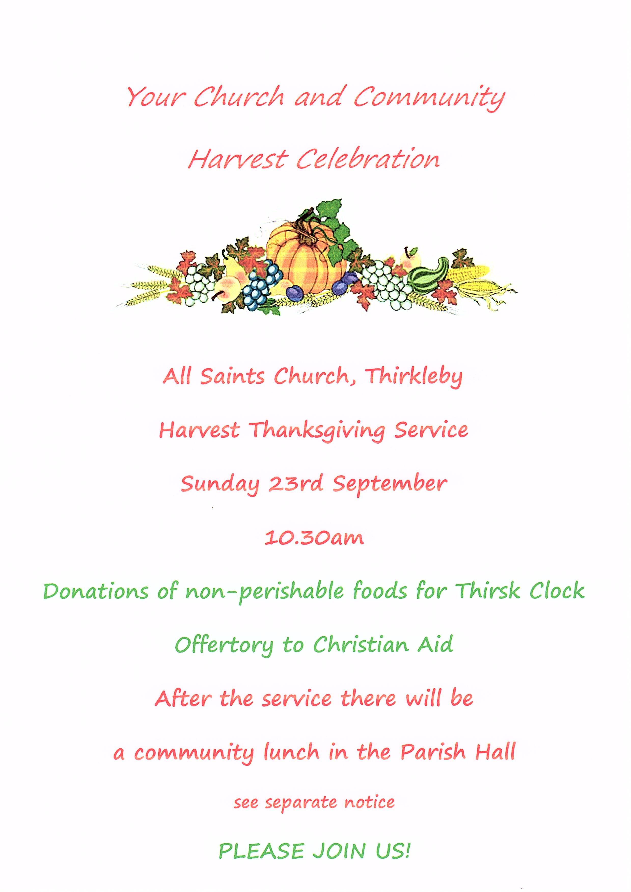 Harvest Service 2018