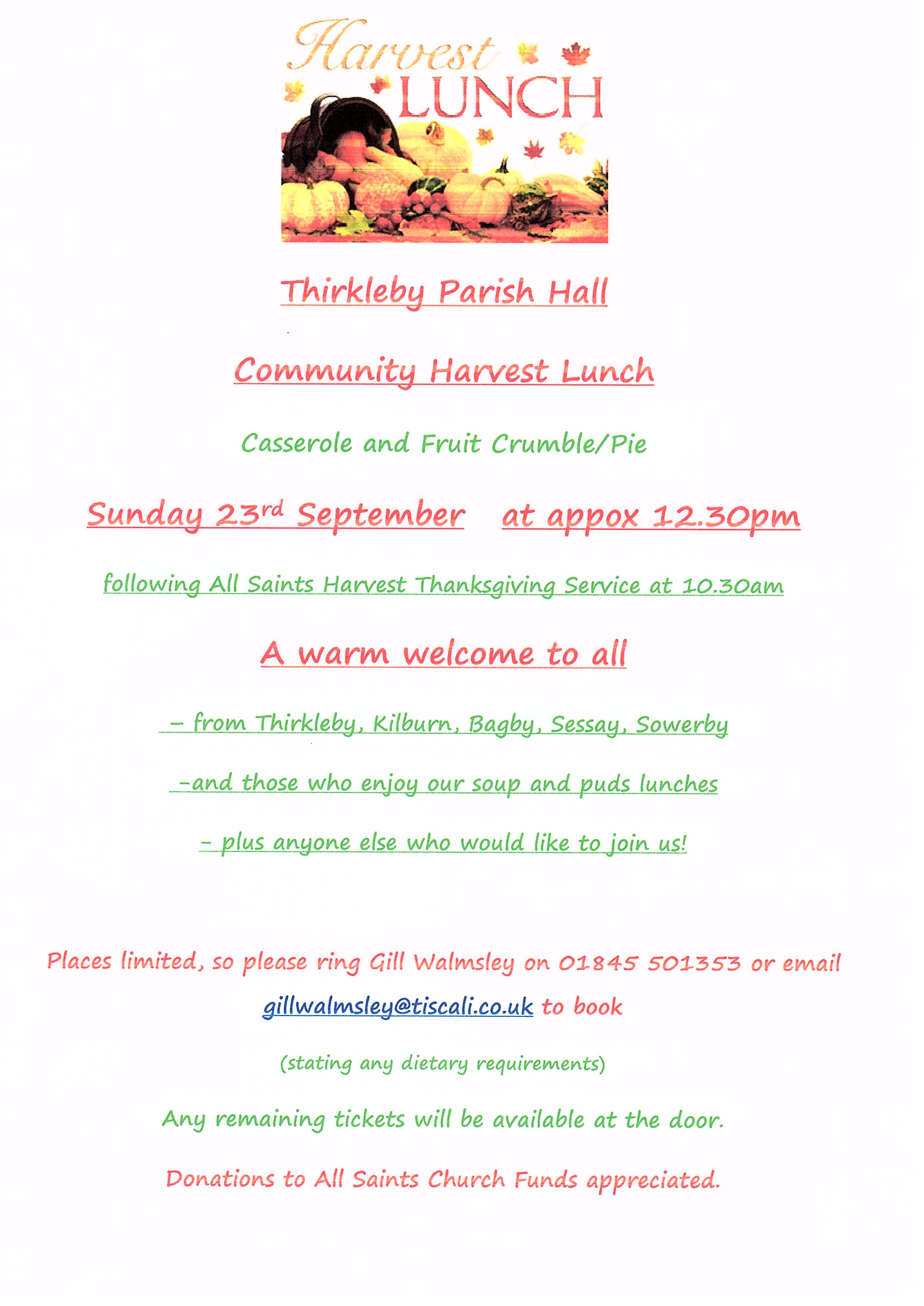 Harvest lunch 2018