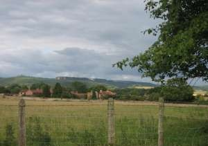 view from All Saints across to the White Horse