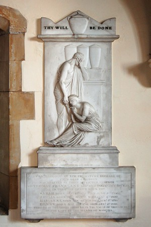 Memorial to the children of Sir Thomas Frankland by John Flaxman R.A.