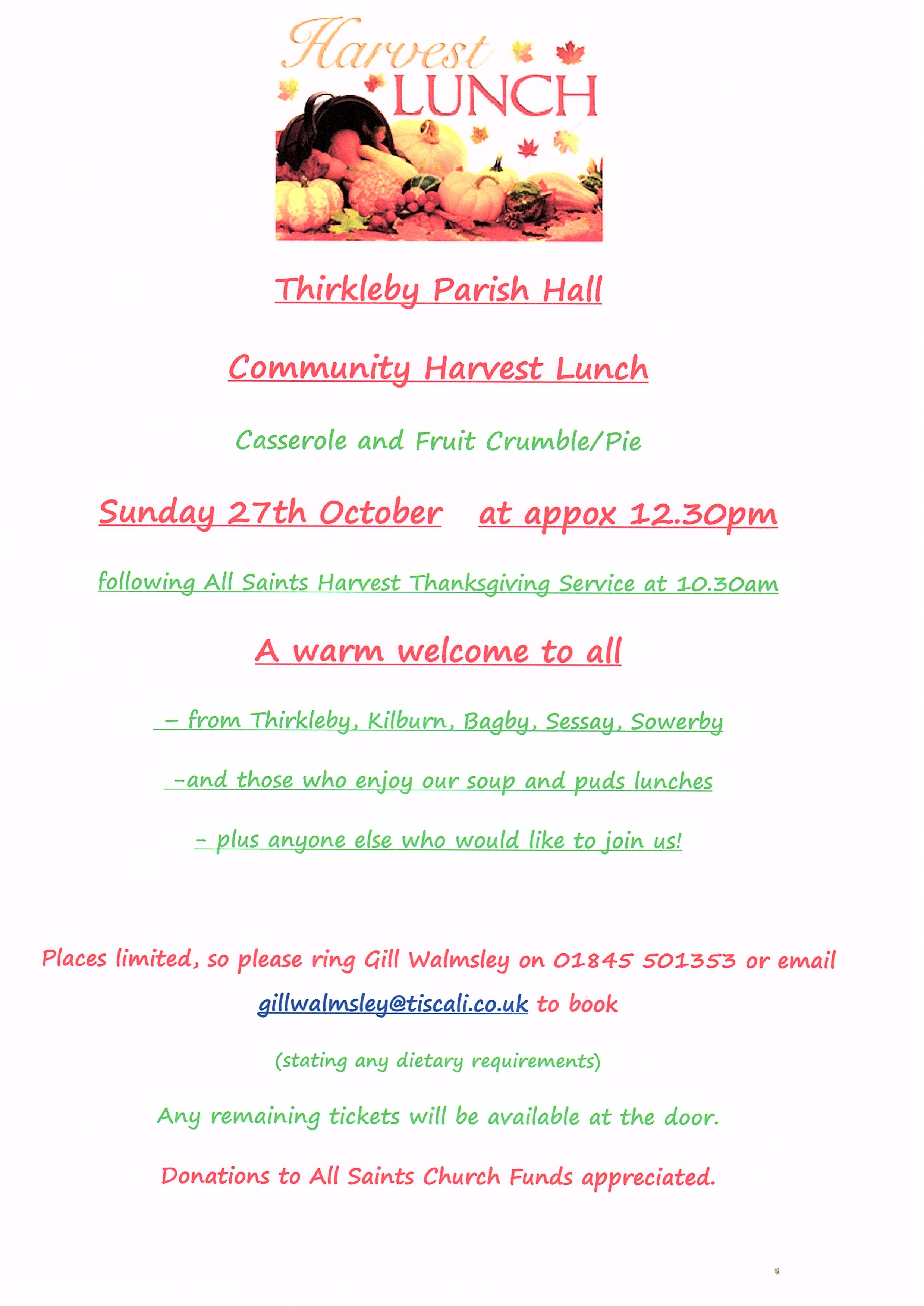 Harvest lunch 2019